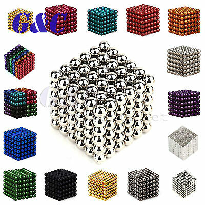 216PCS 3/5mm Magnets Ball Neodymium 3D Puzzle Cube Stress Relief