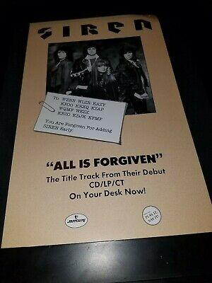 Red Siren All Is Forgiven Rare Original Radio Promo Poster Ad Framed! #2