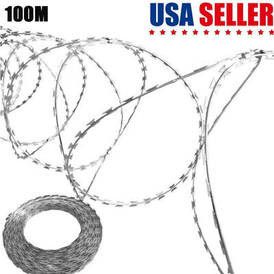 "Razor Wire 13.8"" Galvanized Steel Chain Helical Barbed Fence Accessory"