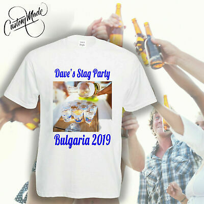 Wholesale Personalised T-shirt Custom Photo Image Printed Stag Hen Party Tshirts