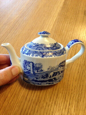 New Spode Blue Italian miniature teapot S3447-AO never used, excellent condition