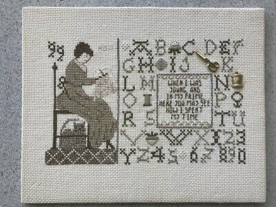 Vintage Embroidery Cross Stitch Sewing Picture AS IS