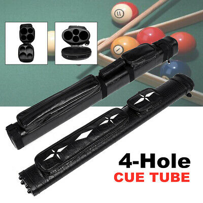 2x2 1/2 Leather Billiard Stick Pool Barrel Hard Cue Tube Case Black with Handle
