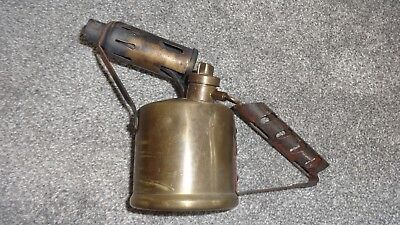 STYLISH BRITISH MONITOR No24 PARAFFIN BRASS BLOW TORCH LAMP WITH ENGRAVED FRONT!