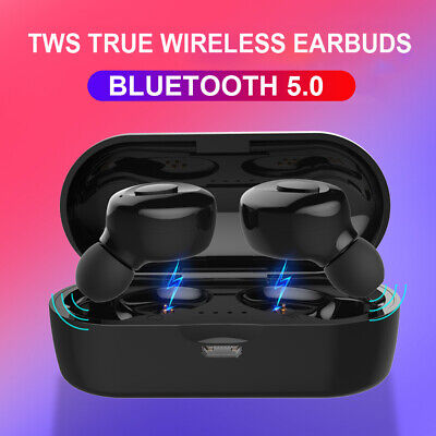 Bluetooth 5.0 Headset Wireless Earphones TWS Earbuds Stereo In-Ear Headphones CA