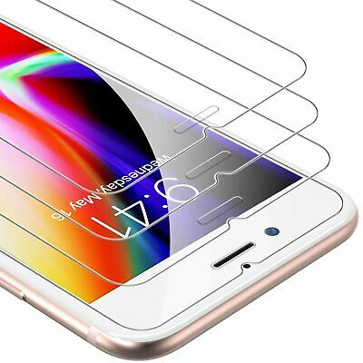 3-Pack iPhone 6 / 7 / 8 Plus Tempered GLASS Screen Protector Bubble Free