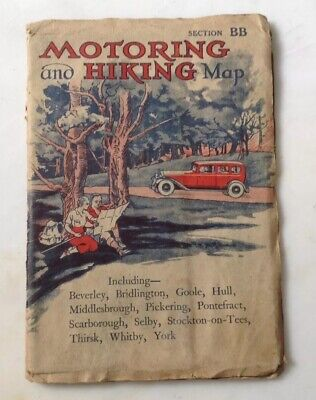 Motoring And Hiking Map Section BB