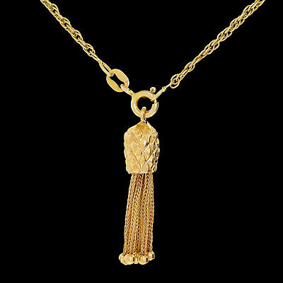 Vintage 14k Gold Victorian Style Tassel For Charm or Pendant Accent 4.20 Grams