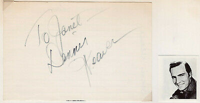 Dennis Weaver Signed Autographed Index Card - from the Melchior Collection
