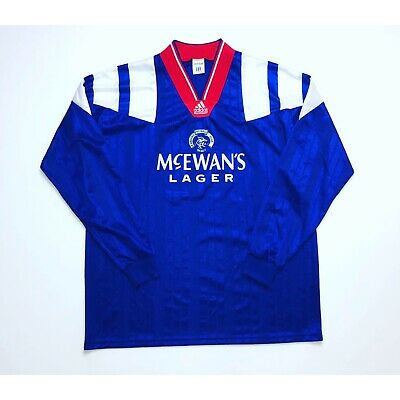 🔥*VGC* Rangers 1992/1994 Home Player Issue L/S Football Shirt - Size XL🔥