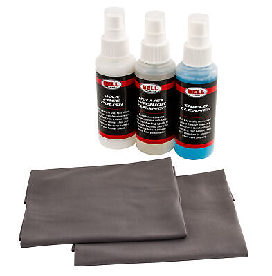 Bell Helmet Cleaning Kit 250ml Visor Cleaner, 250ml Wax Free Polish And 2 Cloths