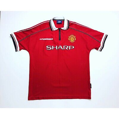 🔥*VGC* Manchester United 1998/2000 Home Football Shirt Umbro Treble - Size XL🔥