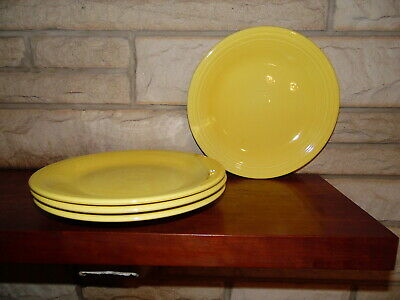 Fiesta 10.5 Dinner Plates in sunflower set of 4 NEW  Fiestaware