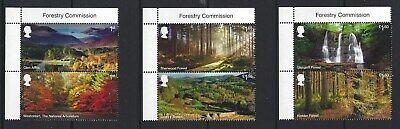 Great Britain 2019 Forests Set Of 6 Titles Pairs Unmounted Mint, Mnh