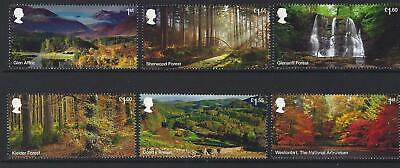 Great Britain 2019 Forests Set Of 6 Singles Fine Used