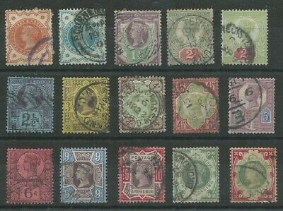 GB QV 1887-1900 'Jubilee Issue' set good used (4189)