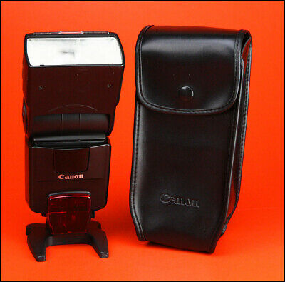 Canon 550EX Portable Speedlite Flash Unit Sold With Stand &  Case