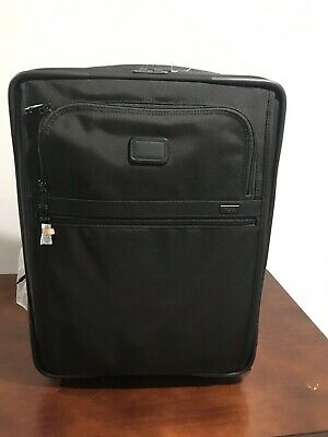 Tumi Alpha Continental Expandable 2 Wheel Black Carry On Luggage NEW