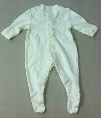 M&S Baby GIRLS SLEEPSUIT Newborn First Size up to 7.5 lbs White  Plain