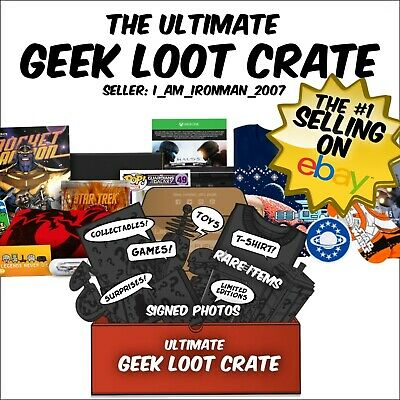 Random Job Lot Geek Loot Crate New & Used Figures, comics, clothing, games, toys