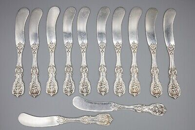 Reed Barton Francis I 1 Sterling Silver Flat Handle Butter Spreader – Set of 12
