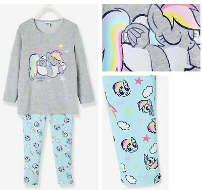 Bnwt Girls Vertaubaudet My Little Pony Rainbow Dash Embroidered Cotton Pyjamas