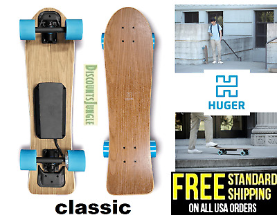 Huger Tech Classic Electric Skateboard Bluetooth 700W Speed 15 MPH Range 8.5 MIL