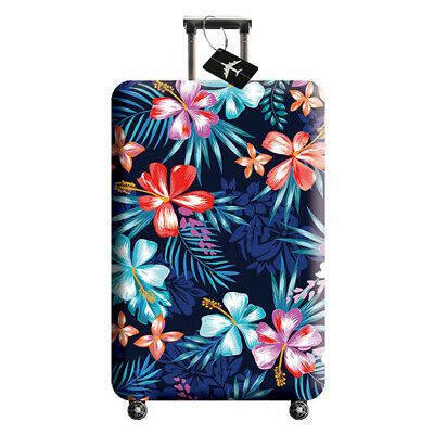 Luggage Cover Zippered Protective Washable Suitcase Cover Travel Elastic Cover