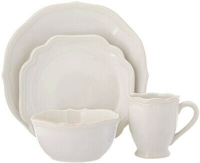 Lenox 4-Piece French Perle Bead Dinner Set - White