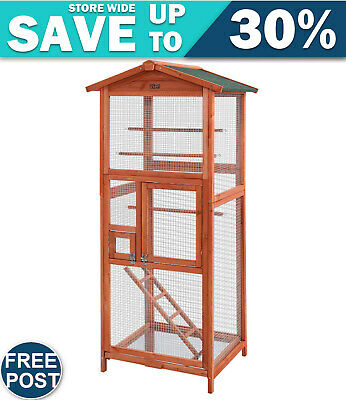 Bird Cage Wooden Pet Cages Aviary Large Carrier Travel Canary Cockatoo Parrot XL