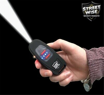 Streetwise 24,000,000 Stun Gun Small as a Key Fob / LED Flashlight, USB Charging