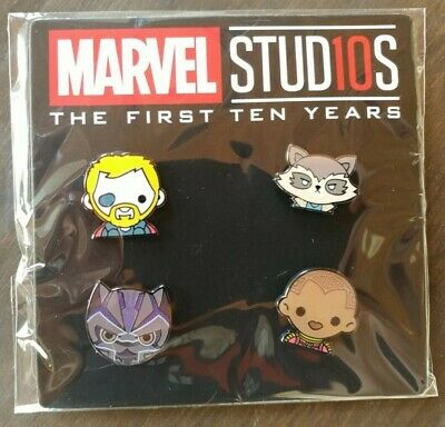 DMR Disney Movie Rewards Marvel Studios 10TH ANNIVERSARY EMOJI PIN SET ISSUE #4