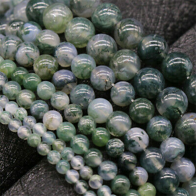 Natural Moss Agate Loose Beads Diy Accessories Opaque Top Lots Handmade Shining