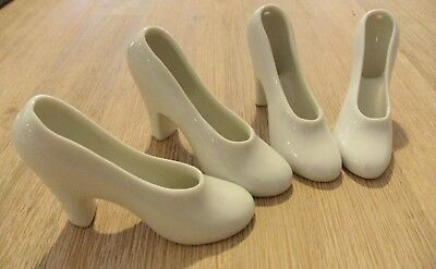 4 x vintage white porcelain shoes high heels  Alexander's blanks for painting