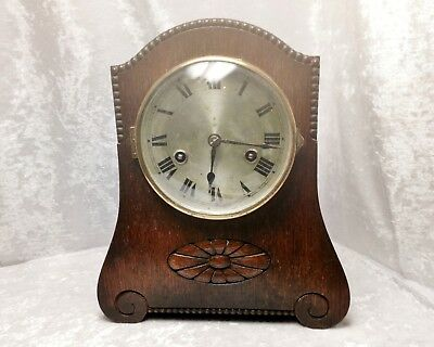 Antique German Wooden Mantel Clock HAC/H.A.C Wurttemberg-Chimes need adjustment