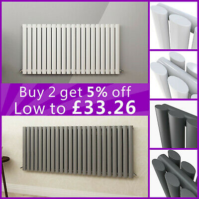 Anthracite Horizontal Designer Column Radiators Double & Single Central Heating