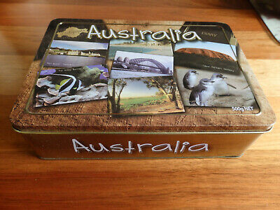 """Collectable Unibic Anzac biscuit tin .  """" Australia """"."""