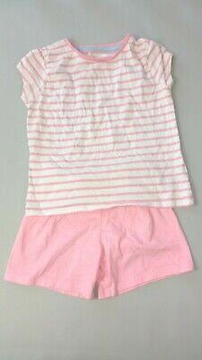 Mothercare Toddler Girls 3-4 Years Pink Stripe PYJAMAS SET PJs Shorts T shirt