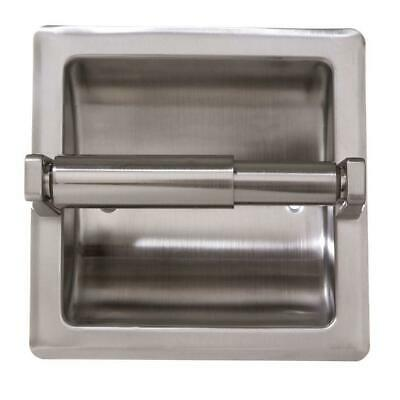 Toilet Paper Holder Recessed Satin Nickel Galvanized Steel Wall Mount Plate