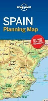 Lonely Planet Spain Planning Map by Lonely Planet 9781787014527 | Brand New