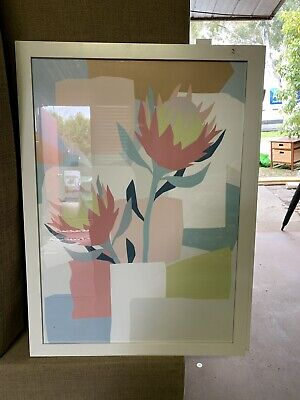 Flower Artwork w/ White Timber Frame