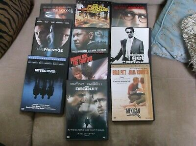 DVD Lot Of Ten Classic CRIME DRAMA  Very Good Condition- SEE LIST BELOW  K & G