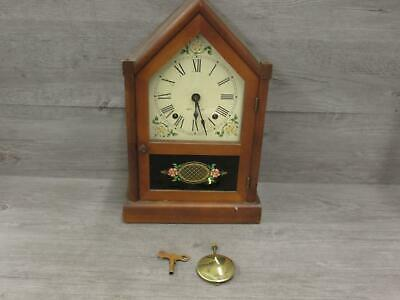 Vintage 1948 Seth Thomas Sharon 7W Clock For Parts or Repairs With Key