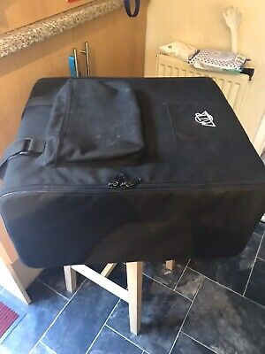 """5U 19"""" Portable Rack Bag by MTR in Black Canvas with internal metal frame"""