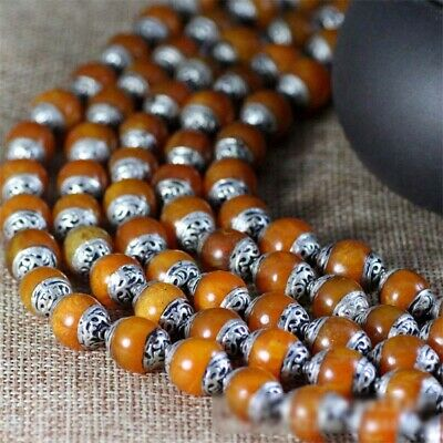 5PCS/Lot Handmade Yellow Stone Copper Loose Beads Luxury Party Flawless Women