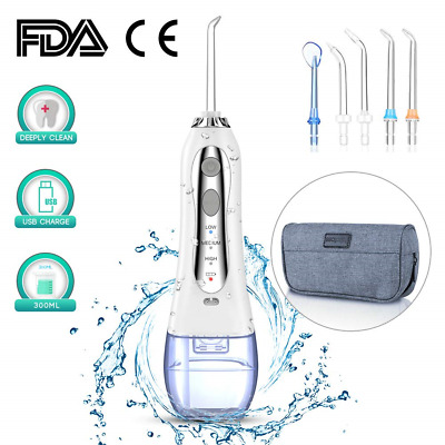 Cordless Water Flosser for Teeth,Professional Dental Oral Irrigator with 5 Jet 3