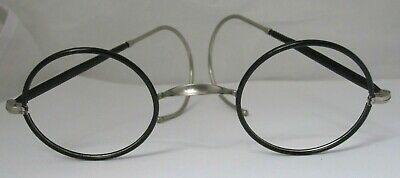 Antique Pair of Round Black Spectacle Frames no lenses circa 1920/30s