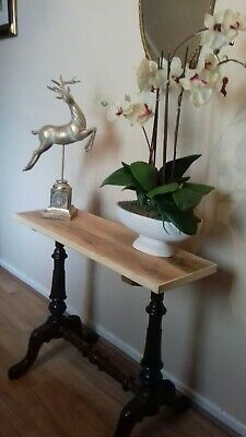 Hall Console Table Antique Mahogany Carved Base Interior Design Decor