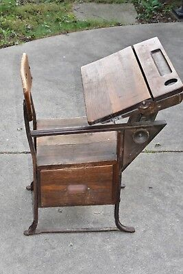 """Vintage Old School Chair Youth Wooden Student Desk Kids Furniture 28.5"""" Height"""