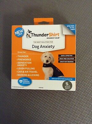 Thundershirt Dog Anxiety Treatment HGS-T01, SMALL Heather Gray UPC: 854880001158